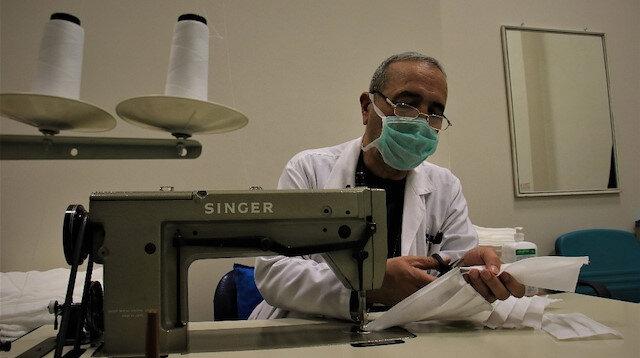 Depremin yükünü alan Şehir Hastanesinde maske ve dezenfektan üretimi başladı
