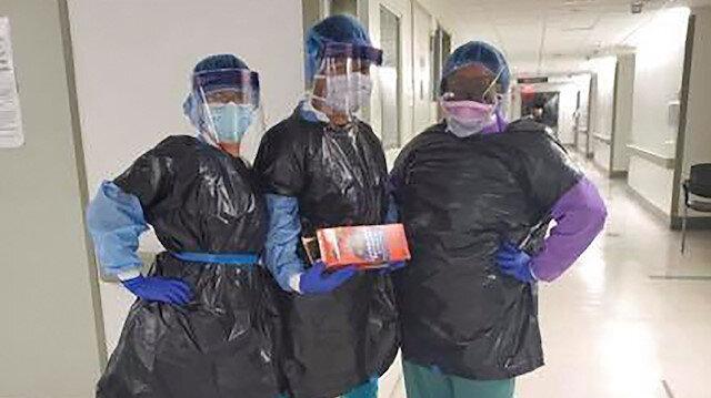 ABD'de koruyucu ekipman bulamayan hemşireler çöp poşeti giydi