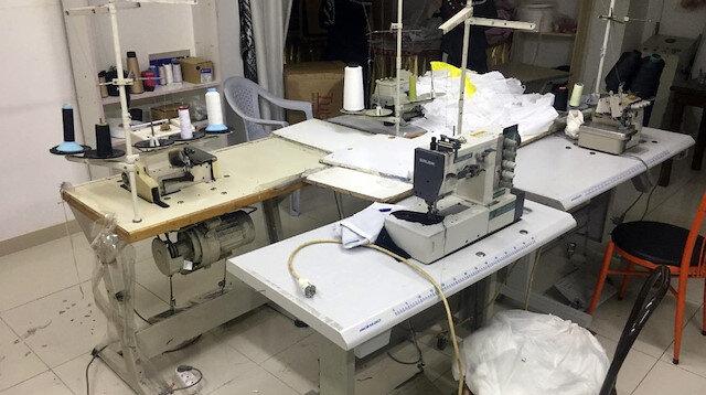 Fırsatçılara izin yok: Kaçak maske üreten iş yeri mühürlendi