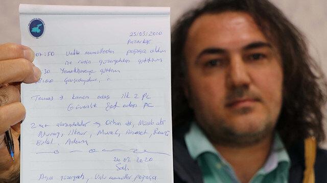Türkiye'deki ilk koronavirüs vakasından beri her şeyi not ediyor