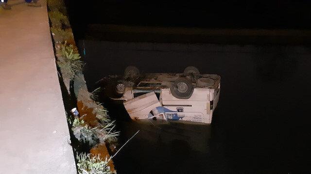 Polis kovalamacasının sonu su kanalında bitti