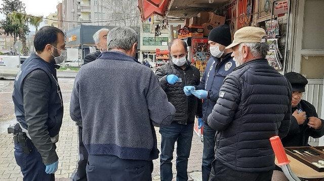 Kurallara uymayan yaşlılara 300 TL para cezası kesildi