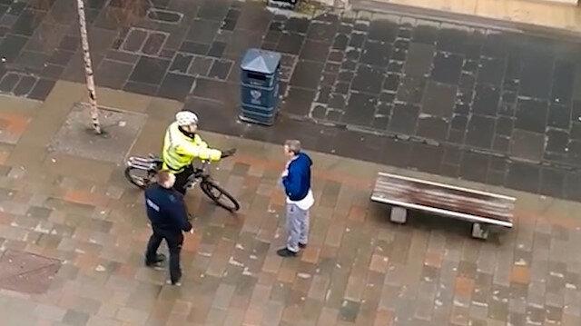 İskoç polisi korona hastasını sokak ortasında azarladı