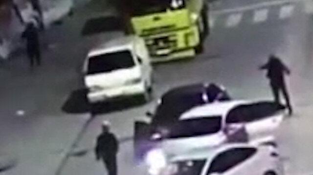 Polis şüpheli kovalamacası kamerada