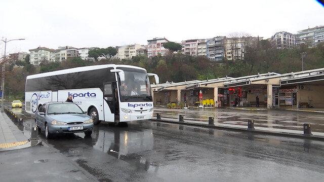 Son otobüs de hareket etti