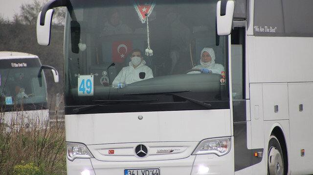 Yurt dışından gelen 159 kişi Düzce'de yurda yerleştirildi