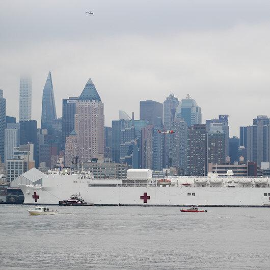 ABD donanmasına ait hastane gemisi New Yorka geldi