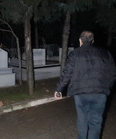 Mezarlıkta esrarengiz çığlık
