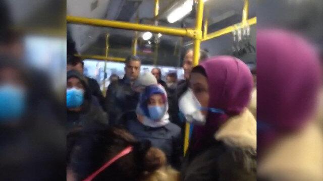 Ankara'da şehir içi otobüste fazla yolcu taşınmasına tepki