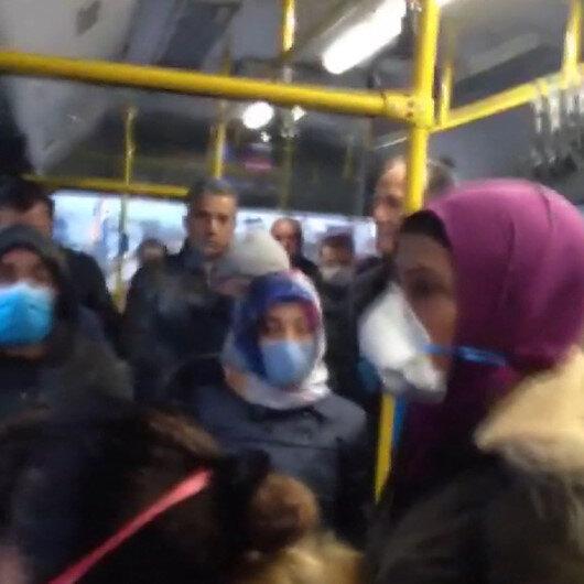 Ankarada şehir içi otobüste fazla yolcu taşınmasına tepki