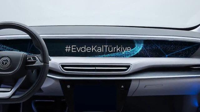 Türkiyenin Otomobolinden Evde Kal mesajı