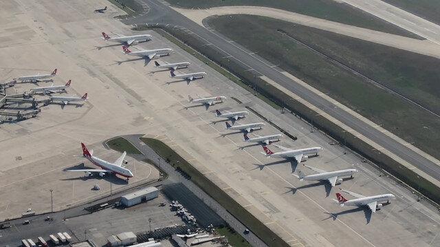 Koronavirüs sonrası Atatürk Havalimanı uçaklarla doldu