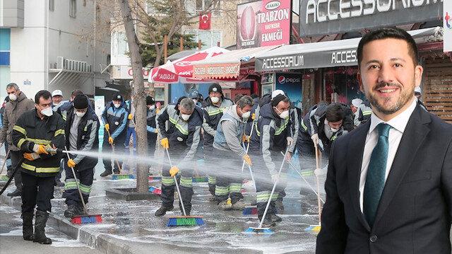 Caddelleri foşur foşur yıkayan belediye başkanı: En büyük başarımız samimiyet