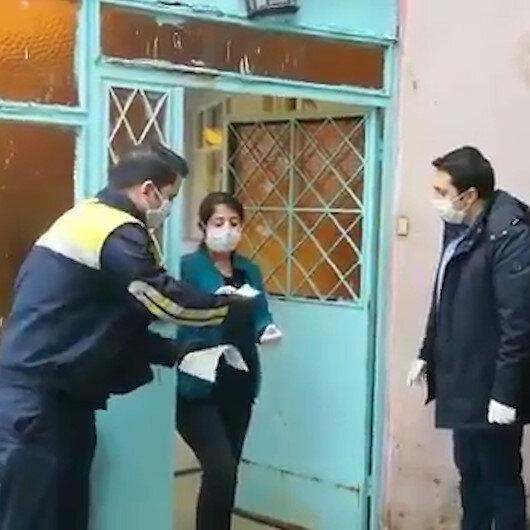Bin TLlik sosyal yardımlar evlerde teslim edilmeye başlandı