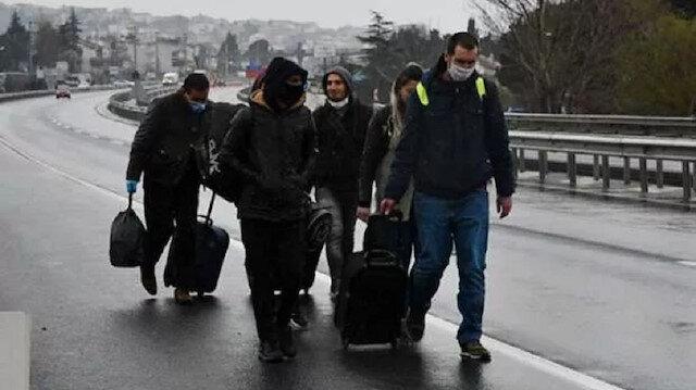 İstanbul sınırı kapatıldı: Şehre yürüyerek girdiler