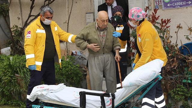 Zabıtaya hitabıyla herkesi duygulandıran Burhan amca hastaneye kaldırıldı