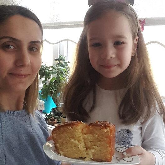 Beş yaşındaki Bilgeden sağlık çalışanlarına kek jesti