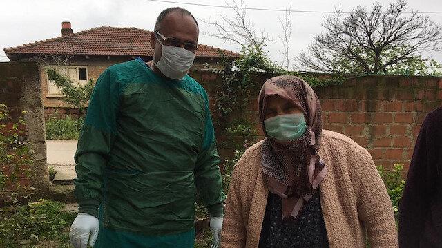 Seksen yaşındaki Nazmiye nine  koronavirüsü yendi