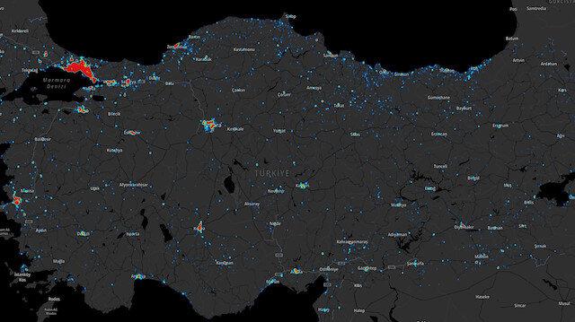 Türkiye'nin konum bazlı koronavirüs haritası