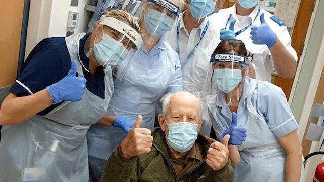 İngiltere'de 101 yaşındaki adam virüsü yendi