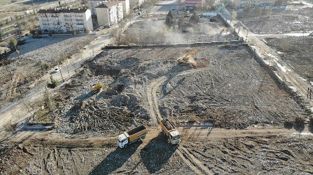 Elazığ'daki deprem sonrasında bir mahalle bu hale geldi