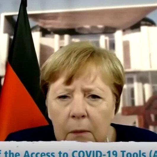 Merkelin zor anları