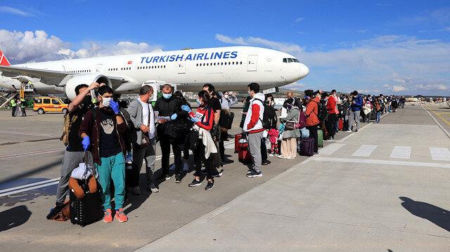 ABD'den getirilen 346 vatandaş, Gaziantep'te karantinaya alındı