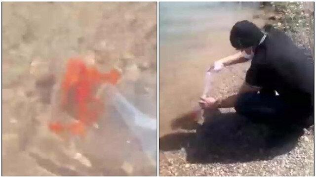 Konya gizemli ABD'li turisti konuşuyor: Baraja balık bıraktı, sebebini sır gibi saklıyor