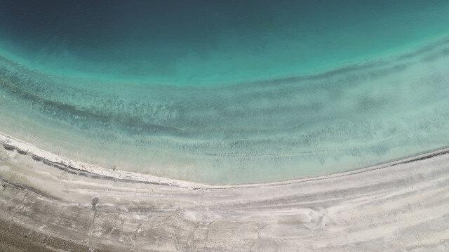 Özüne döndü: Salda Gölü eski görüntüsüne kavuştu