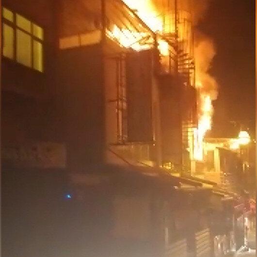 Balık restoranı alev alev yandı