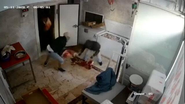 80 bin lira değerindeki et hırsızlığı kamerada