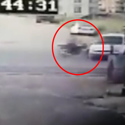 Adıyamanda, motosikletlinin öldüğü kaza güvenlik kamerasında