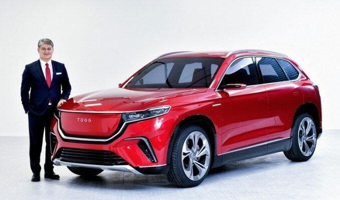 TOGG'un CEO'su Gürcan Karakaş / tanıtımı yapılan yerli otomobilin SUV modeli.