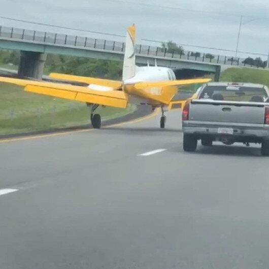 ABDde arızalanan uçak otoyola iniş yaptı
