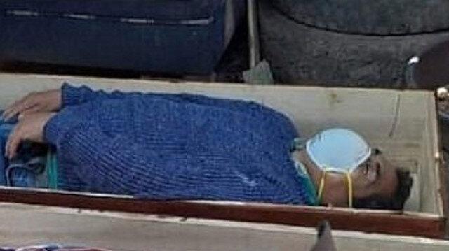 Perulu belediye başkanı karantinayı ihlal etti: Yakalanınca tabuta girip ölü taklidi yaptı