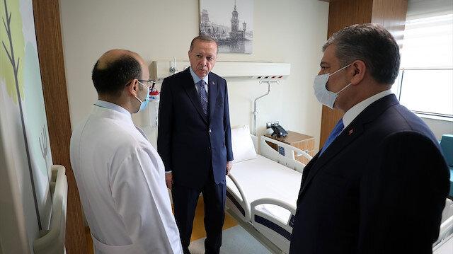 """Erdoğan'dan """"Başakşehir Çam ve Sakura Şehir Hastanesi"""" paylaşımı: Türkiye'nin marka eseri olacak"""