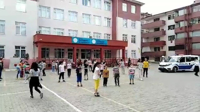 Polisler çaldı, çocuklar erik dalıyla kendinden geçti