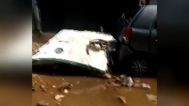 Pakistan'da düşen uçağın enkazından ilk görüntüler ortaya çıktı