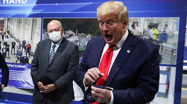 Trump'tan basına 'maskesiz' tepki: Bu zevki tattırmak istemedim