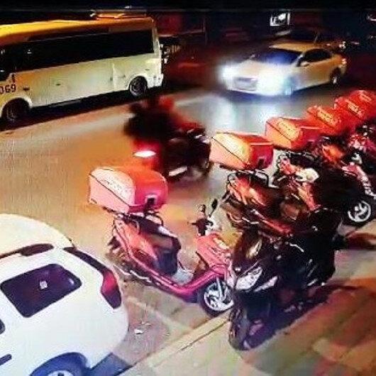Motosikletli kapkaççılar  kamerada