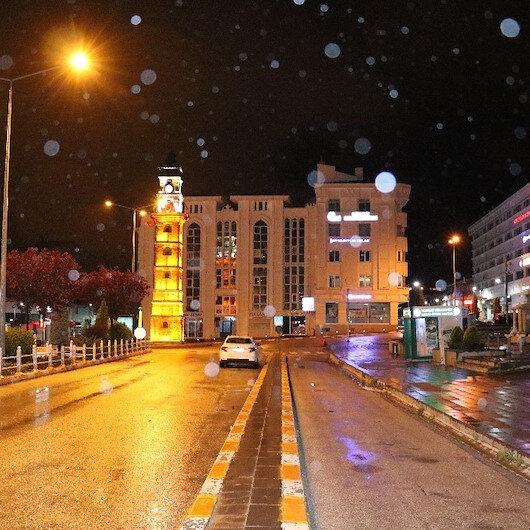 Yozgat'a Mayıs ayında kar yağdı