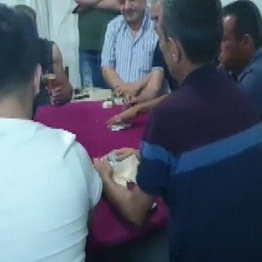 Mersinde kumar oynayanlara jandarmadan suçüstü