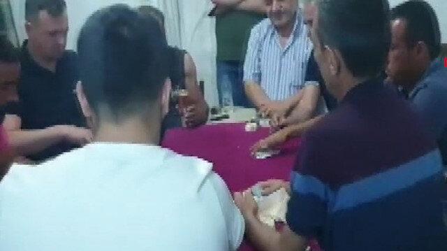 Mersin'de kumar oynayanlara jandarmadan suçüstü