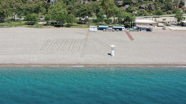 Dünyaca ünlü plajda