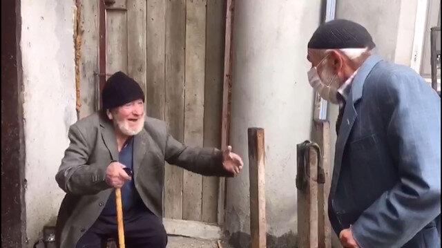 Yaşlılarımızdan hüzünlendiren buluşma: Sarılmak istedi ama sarılamadı