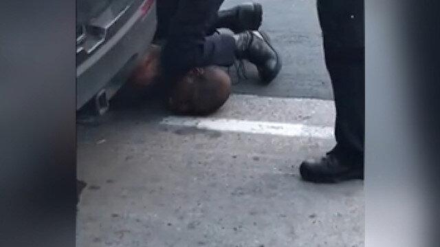 Dehşet anları kamerada: ABD'de bir polis şüpheliyi boğarak öldürdü