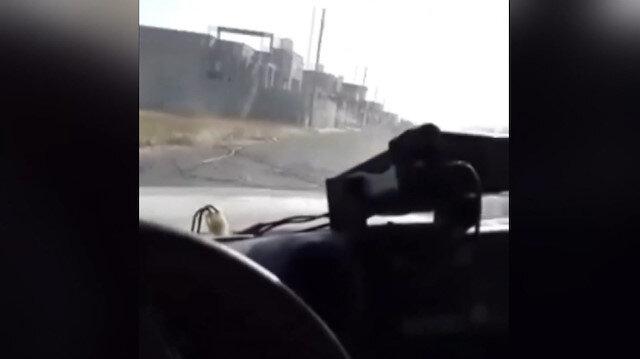 Libya'da yola döşenen mayının patlama anı kamerada: 1 ölü, 1 yaralı