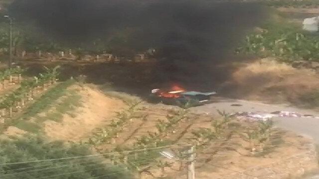 Otomobil alev topuna döndü