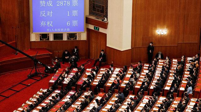 Çin Ulusal Halk Kongresi, Hong Kong Özel İdari Bölgesi'nde uygulanacak Ulusal Güvenlik Yasası'nı kabul etti