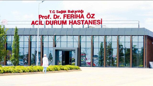 45 günde tamamlandı: Prof. Dr. Feriha Öz Acil Durum Hastanesi açıldı